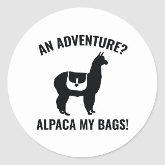 アルパカ私のバッグ ラウンドシール