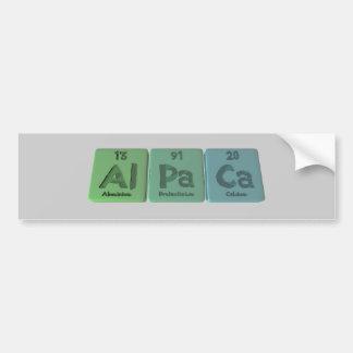 アルパカAl Paカリフォルニアアルミニウムプロトアクチニウムカルシウム バンパーステッカー