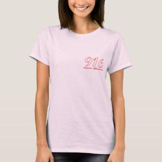 アルファは916人のスポーツのなハートの女性Tシャツに合いました Tシャツ