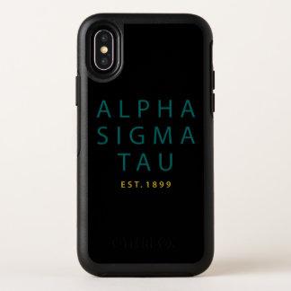 アルファシグマTauのモダンのタイプ オッターボックスシンメトリー iPhone X ケース