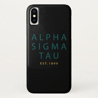 アルファシグマTauのモダンのタイプ iPhone X ケース