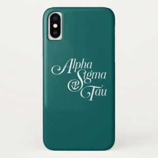 アルファシグマTauの垂直印 iPhone X ケース