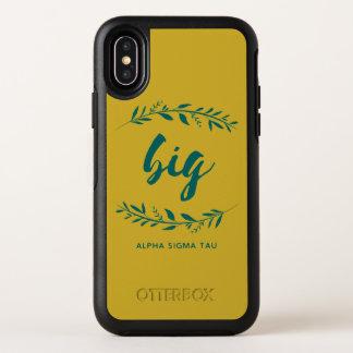 アルファシグマTauの大きいリース オッターボックスシンメトリー iPhone X ケース