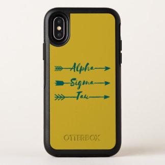 アルファシグマTauの矢 オッターボックスシンメトリー iPhone X ケース