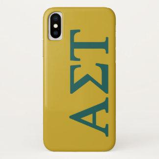 アルファシグマTau Lilの大きいロゴ iPhone X ケース