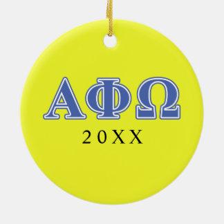アルファファイのオメガの青の手紙 セラミックオーナメント