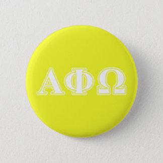アルファファイオメガの白くおよび黄色の手紙 缶バッジ