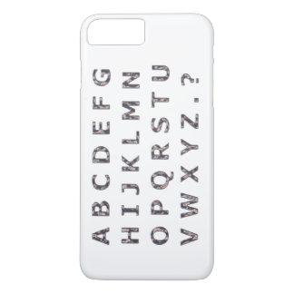 アルファベットによって槌で打たれるクロム首都 iPhone 8 PLUS/7 PLUSケース
