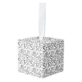 アルファベットのカスタムな立方体のオーナメント キューブオーナメント