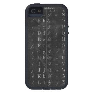 アルファベットのヴィンテージの黒板 iPhone SE/5/5s ケース