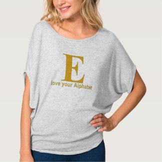 アルファベットの手紙: E Tシャツ