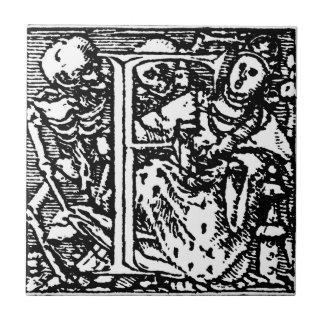 アルファベットの手紙Fのタイル絞首刑 タイル