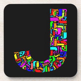アルファベットの手紙J コースター