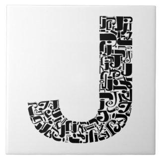 アルファベットの手紙J タイル