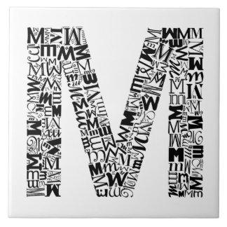 アルファベットの手紙M タイル