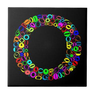 アルファベットの手紙O タイル