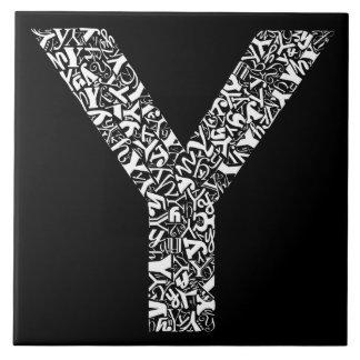 アルファベットの手紙Y タイル