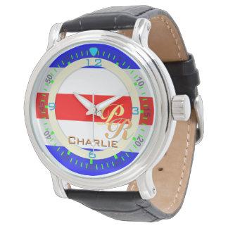 アルファベットの旗のチャーリーの航海のな手紙C 腕時計