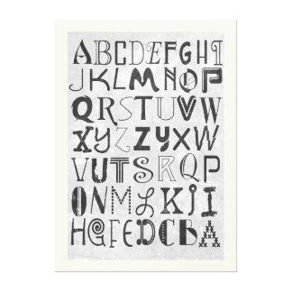 アルファベットの芸術 キャンバスプリント