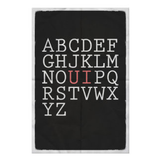アルファベットを再配列して下さい ポスター