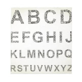 アルファベットビジネス ノートパッド
