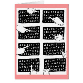アルファベット板 カード