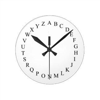 アルファベット-ノベルティの時計 ラウンド壁時計