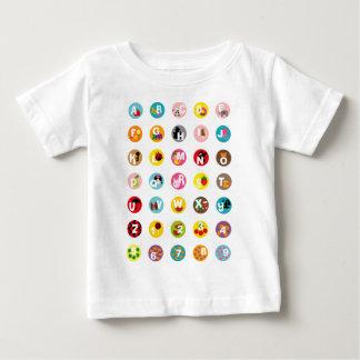 アルファベット ベビーTシャツ