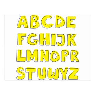 アルファベット ポストカード