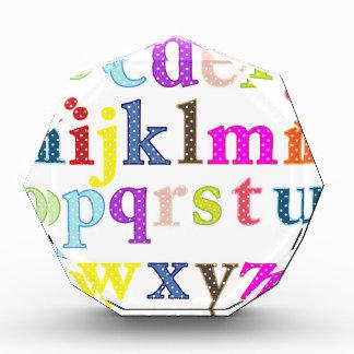 アルファベット 表彰盾
