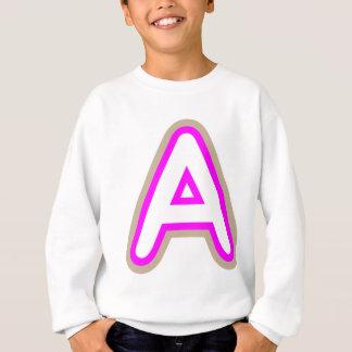 アルファベットAAAのピンク スウェットシャツ