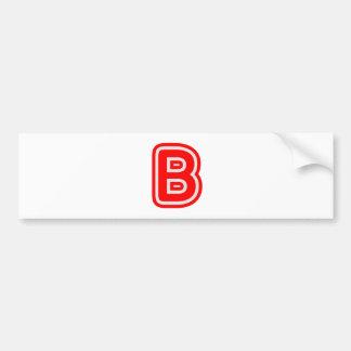 アルファベットALPHAB BBB バンパーステッカー