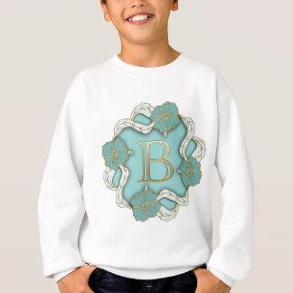 アルファベットbのモノグラム スウェットシャツ
