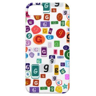 アルファベットG (白い背景) iPhone SE/5/5s ケース