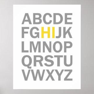 アルファベットHIプリントかポスター ポスター