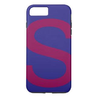 アルファベットsのかわいく違うな色の組合せ iPhone 8 plus/7 plusケース