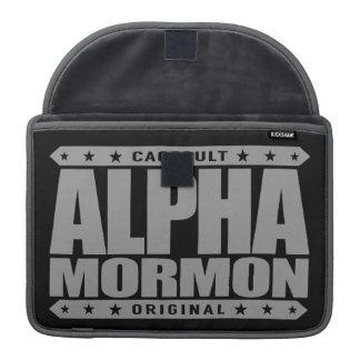 アルファモルモン教徒-近代の聖者の教会、銀 MacBook PROスリーブ