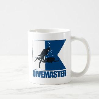 """""""アルファ旗- Divemaster """" コーヒーマグカップ"""