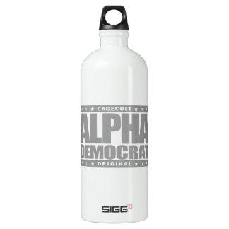 アルファ民主党員-私はろばの穿孔器の専門家、銀です ウォーターボトル