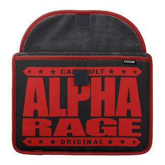 アルファ激怒-成功は赤い飼いならされた侵略です MacBook PROスリーブ
