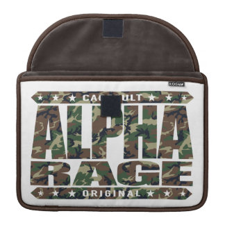 アルファ激怒-成功は飼いならされた侵略、迷彩柄です MacBook PROスリーブ