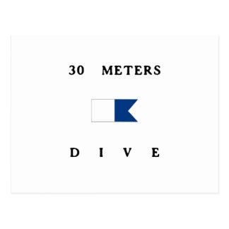 アルファ飛び込みの旗30メートルの ポストカード