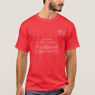 アルファ916 GTVのくもの輪郭のTシャツの赤 Tシャツ