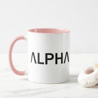 アルファ(黒) マグカップ