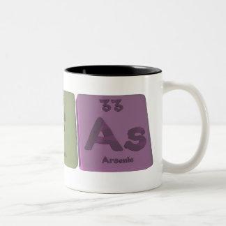 アルファAl Fようにアルミニウムフッ素ヒ素 ツートーンマグカップ