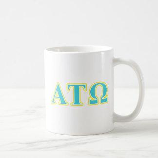 アルファTauオメガの青および黄色の手紙 コーヒーマグカップ