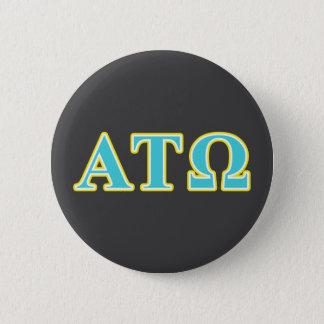 アルファTauオメガの青および黄色の手紙 缶バッジ