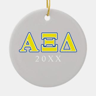 アルファXIのデルタの黄色および青の手紙 セラミックオーナメント