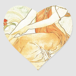 アルフォンス島のミュシャによって絵を描くこと ハートシール