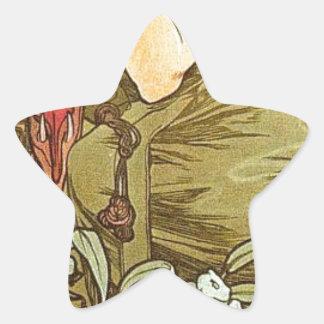 アルフォンス島のミュシャによるエメラルド 星シール